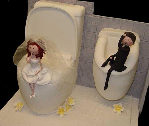 Bánh sinh nhật hình cô dâu chú rể