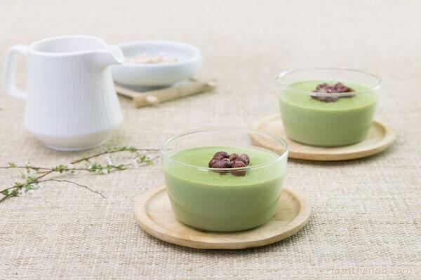 Panna Cotta trà xanh - lập kế hoạch kinh doanh quán ăn vặt