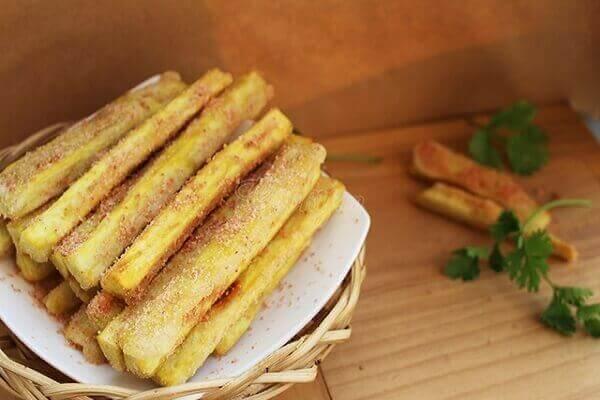 Khoai lang lắc bột xí muội- bán đồ ăn vặt cho học sinh