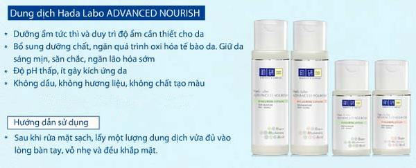 Review lotion Hada Labo Advanced Nourish Hyaluron Lotion (chai màu trắng)
