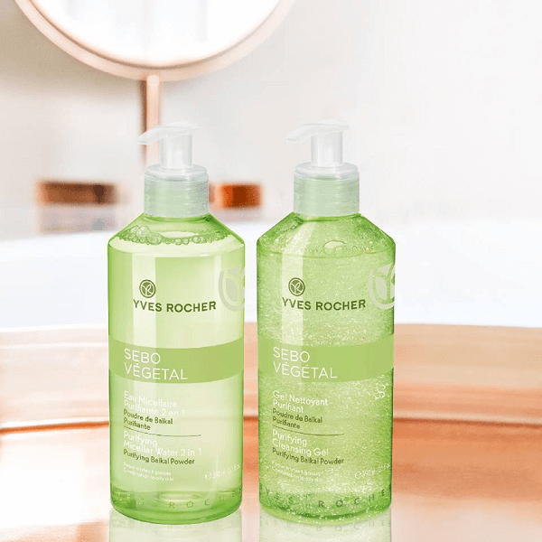 Nước cân bằng Yves Rocher Pure System Clarifying sử dụng công thức chứa Salicylic Acid kết hợp với chiết xuất búp lô hội hữu cơ có tác dụng làm sạch da