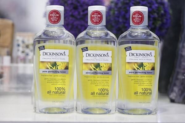 Nước hoa hồng Dickinson Original Witch Hazel Pore Perfecting Toner cho da dầu (chai màu vàng)