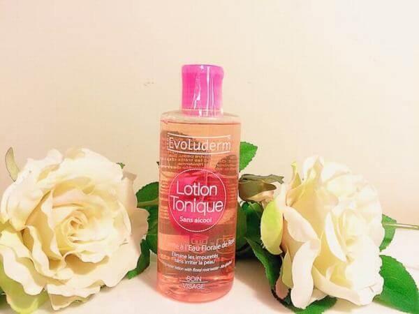 Nước hoa hồng Evoluderm Lotion Tonique còn có thể dùng làm lotion mask (nguồn: internet)