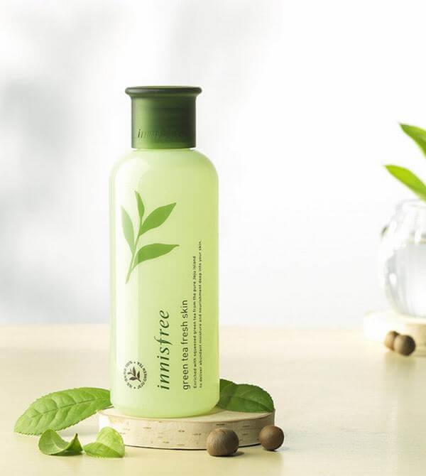 Review Nước hoa hồng trà xanh Innisfree Green Tea Fresh Skin cho da dầu