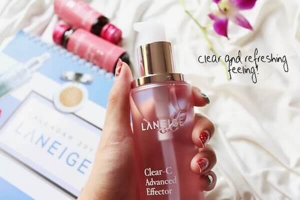 Nước hoa hồng Laneige Clear C cho mọi loại da ( chai màu hồng)