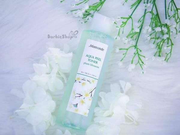 Review Nước hoa hồng Mamonde Aqua Peel Toner Plum Blossom