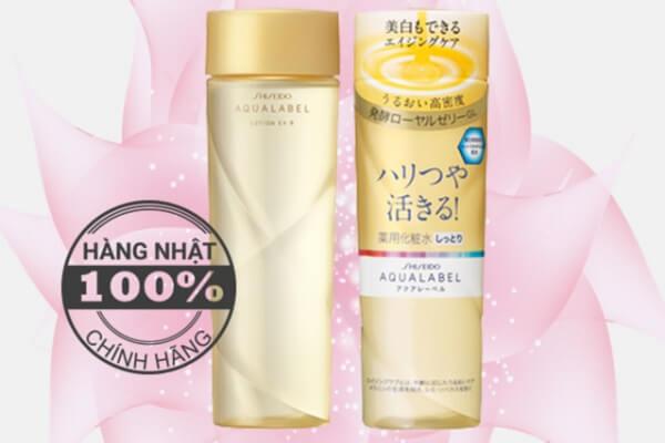 Nước hoa hồng shiseido aqualabel dành cho da lão hoá (chai màu vàng)