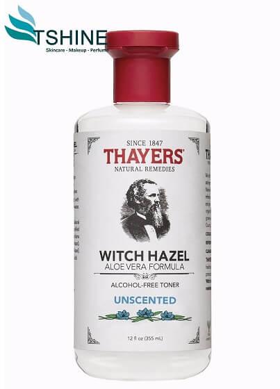 Nước hoa hồng Thayers Alcohol - Free Toner Unscented (không mùi) dành riêng cho da dầu, da mụn.