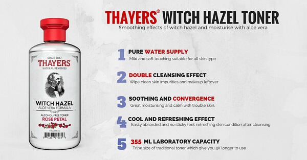 Thayers Witch Hazel Rose Petal – Toner cho da nhạy cảm đáng thử