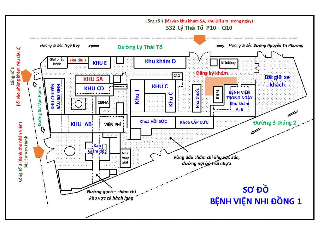 Sơ đồ bệnh viện Nhi Đồng 1