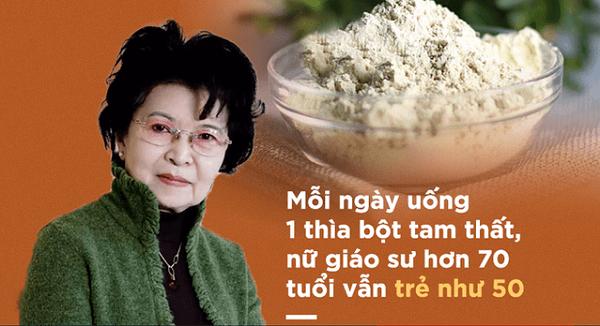 Cũng theo như Dược điển Việt Nam thì tam thất có tác dụng dùng để trị thổ huyết, băng huyết, rong kinh