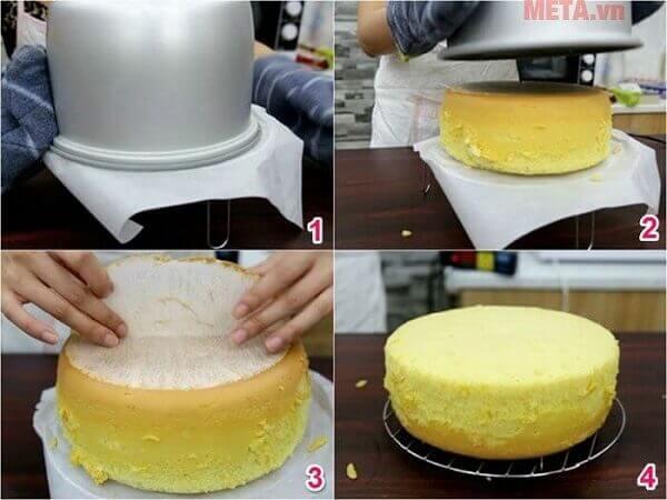Cách Làm Bánh Bông Lan Trứng Muối Sốt Phô Mai Bằng Nồi Cơm Điện