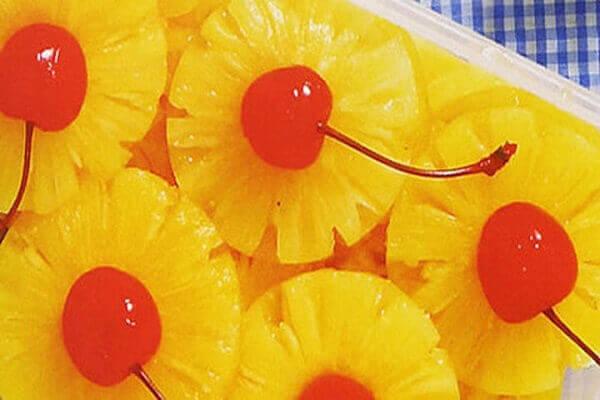 Cách làm mứt trái cây dẻo, hoa quả:Mứt dứa, thơm