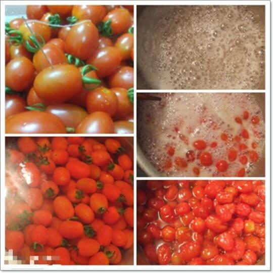 Bước 1: Ngâm cà chua