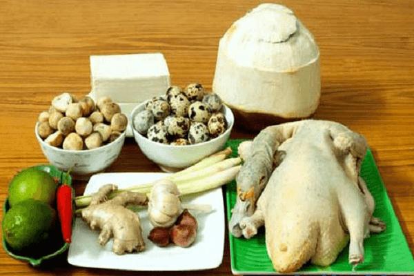 Nguyên liệu thực hiện cách nấu lẩu ngan om sấu