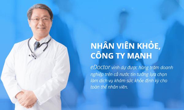 eDoctor vinh dự được hàng trăm doanh nghiệp trên cả nước tin tưởng lựa chọn làm dịch vụ khám sức khỏe định kỳ cho toàn thể nhân viên.