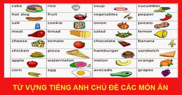 Danh sách thực đơn, các món ăn Việt Nam dịch sang tiếng Anh như thế nào