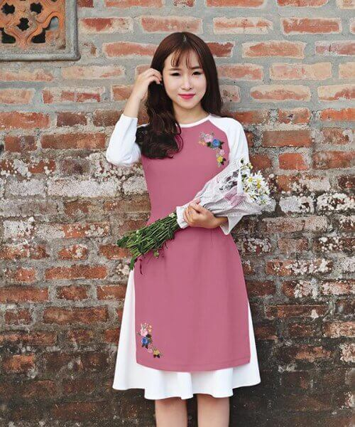 Chân Váy Xòe mặc với Áo Dài Cách Tân là một trong những phong cách Thời Trang HOT nhất Tết 2019.