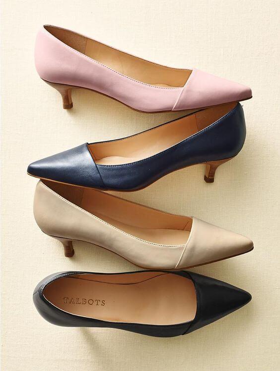 Giày đế thấp Kitten Heels