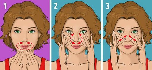 Massage khu vực xung quanh môi