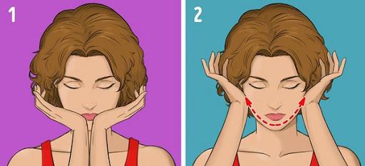 Massage vùng cằm