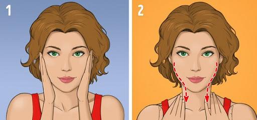 Các chuyện động cơ bản đầu tiên - cách massage mặt của người Nhật thư giãn, chống chảy xệ