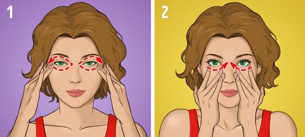 Massage khu vực xung quanh mắt