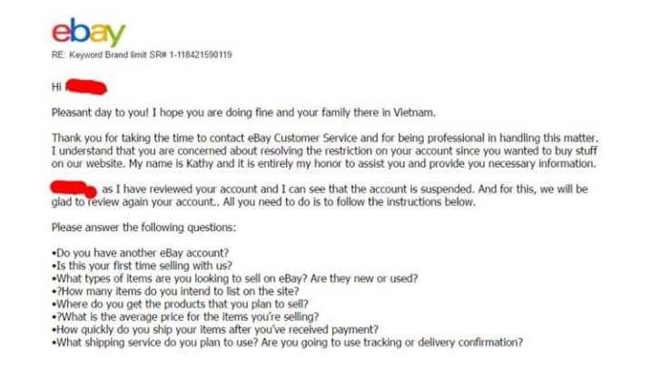Bị khóa tài khoản bán hàng trên Ebay phải làm sao?