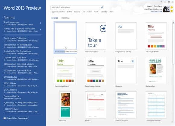 Mỗi ứng dụng trong bộ công cụ Office có một màu sắc riêng