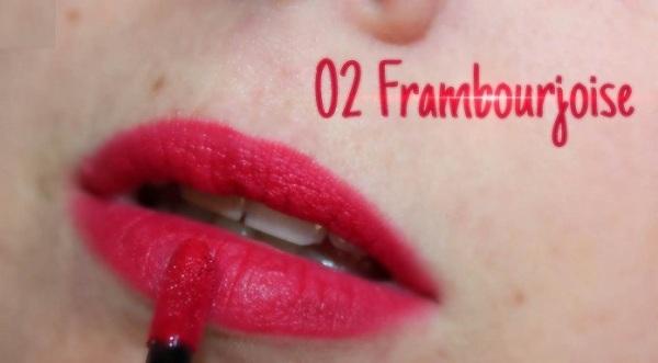 Son Velvet màu số 02 (đỏ hồng) - Frambourjoise