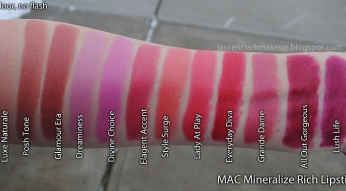 Son Mac dòng Mineralize Rich Lipstick cho môi khô