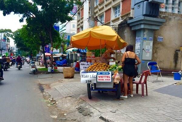 Hàng loạt xe xoài lắc xuất hiện dày đặc tại khắp các vỉa hè Sài Gòn.