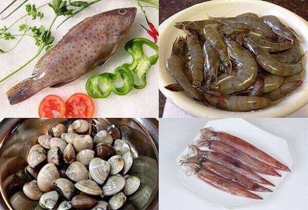 Chuẩn bị nguyên liệu nấu lẩu hải sản ngon
