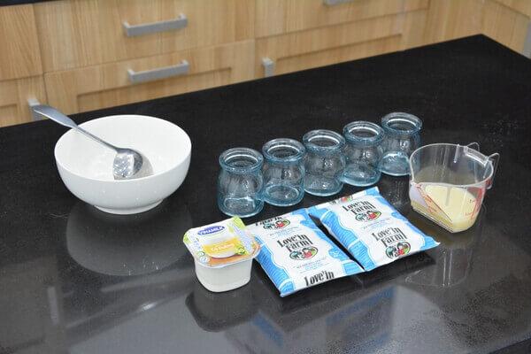 Nguyên liệu và dụng cụ ủ sữa chua