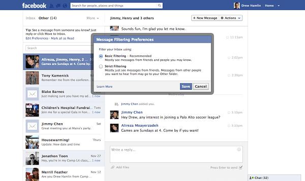 Thuật ngữ inbox trong facebook có nghĩa là hộp thư đến.
