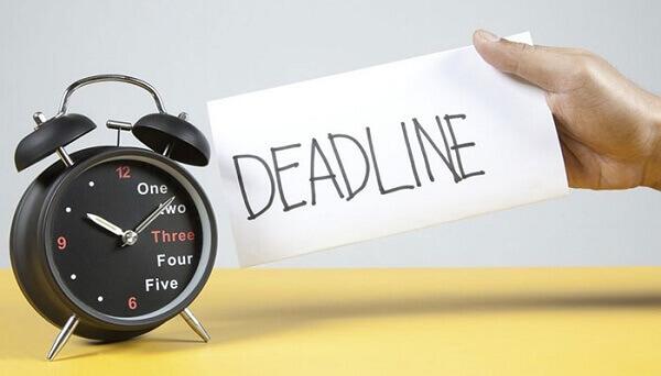 Cách hoàn thành tốt các Deadline, không cố chạy, cố đạt Deadline