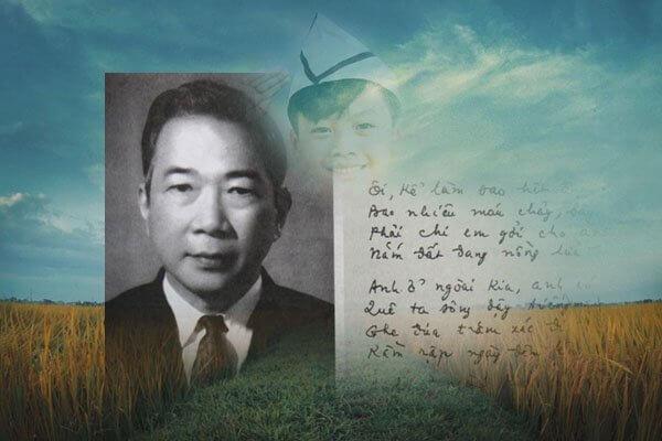 Nhà thơ Tố Hữu sinh ngày 04/10/1920, mất ngày 09/12/2002, tên thật là Nguyễn Kim Thành