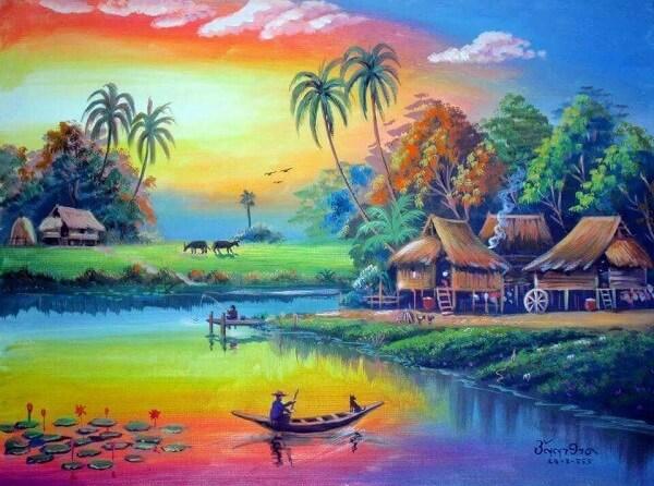 Có thể nói, Việt Bắc và Đây thôn Vĩ Dạ là hai tác phẩm thể hiện sâu sắc và rõ nét vẻ đẹp thiên nhiên và con người