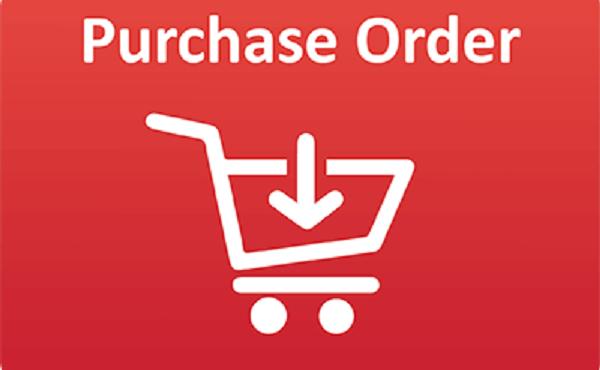 Purchase order hay là đơn đặt hàng của bạn. Tức là một thứ để xác nhận hàng bạn đã đặt mua.
