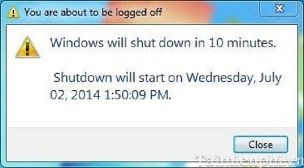 Cách hẹn giờ tắt máy tính bằng CMD trên win 7 8 10 XP