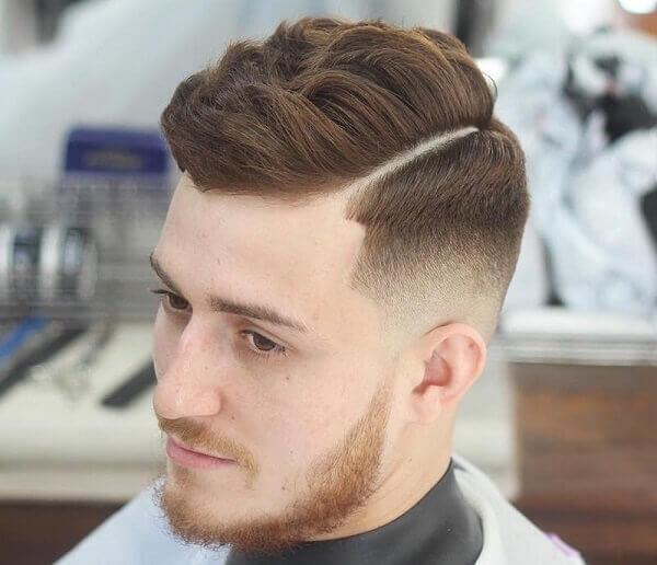 Kiểu tóc undercut nam uốn xoăn