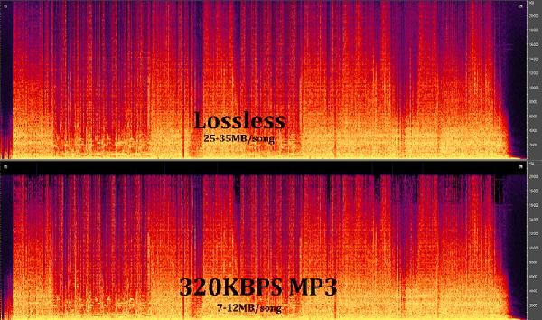 So sánh chất lượng nhạc Lossless và Mp3 320kbps