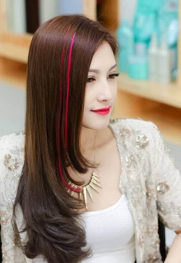 Tóc đen và highlight nâu đậm độc đáo và lạ mắt - tóc móc lai đẹp, tóc đen móc light tóc màu nào đẹp
