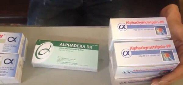 Thuốc Alphachymotrypsin là thuốc gì, có tác dụng chữa bệnh gì, liều lượng và chỉ định của Alphachymotrypsin 42 00 iu