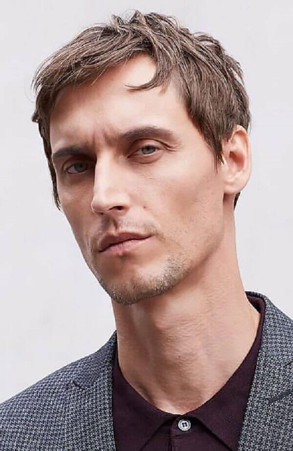 Kiểu tóc French Crop, kiểu tóc nam cạo 2 bên và gáy để đỉnh đầu