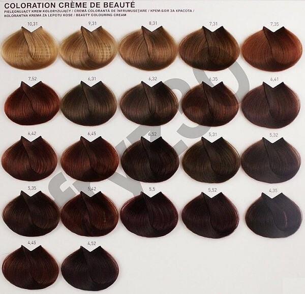 Bảng màu thuốc nhuộm tóc L'oreal gồm những màu nào?