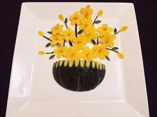Cách trình bày món ăn đẹp mắt bằng rau củ quả cho bé