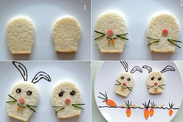 Cách trang trí đĩa thức ăn đẹp mắt cho bé