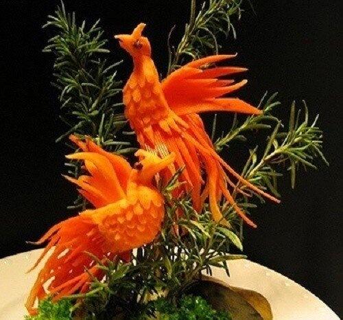 Cách trang trí món ăn từ cà rốt dễ làm mà lại đẹp