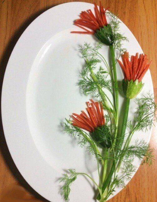 Cách trang trí món ăn khai vị từ quả ớt